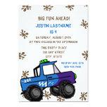 Four Wheel Truck Birthday 13cm X 18cm Invitation Card