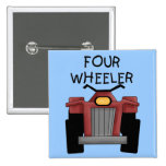Four Wheeler Tshirts and Gifts 15 Cm Square Badge