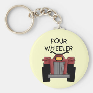 Four Wheeler Tshirts and Gifts Basic Round Button Key Ring