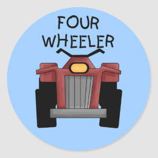 Four Wheeler Tshirts and Gifts Round Sticker