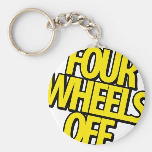 Four Wheels Off Gear Key Chain