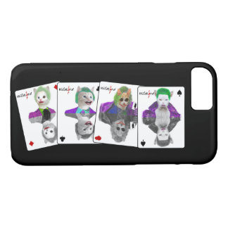 Four Wild Card Clown Cats Playing Cards iPhone 8/7 Case