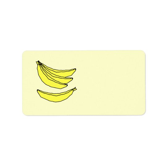 Four Yellow Bananas. Address Label