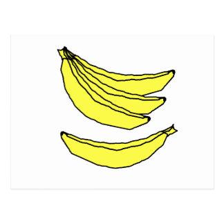 Four Yellow Bananas. Postcard