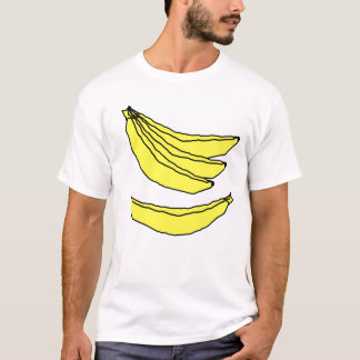 Four Yellow Bananas. T-Shirt