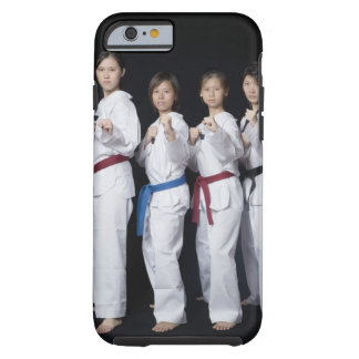 Four young women standing in punching position tough iPhone 6 case