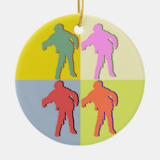 Four Zombies Andy Warhol Style Ornament
