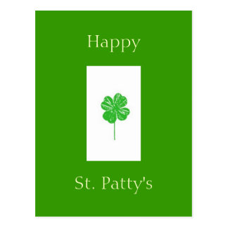 fourleafclover Happy St Patty s Post Card