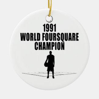 Foursquare Champion Christmas Tree Ornaments
