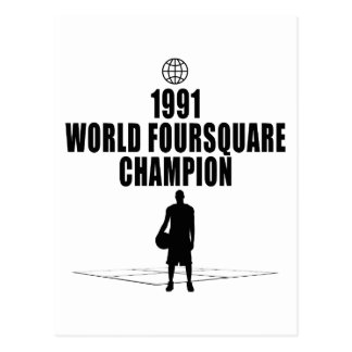 Foursquare Champion Postcard