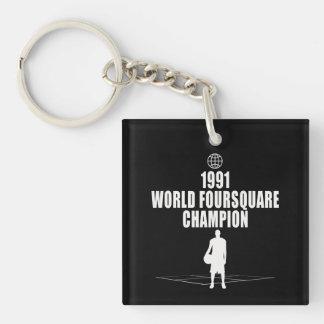 Foursquare Champion Single-Sided Square Acrylic Key Ring