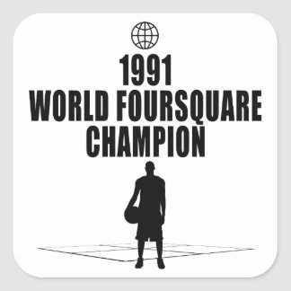 Foursquare Champion Square Stickers
