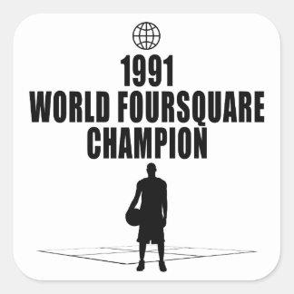 Foursquare Champion Square Sticker