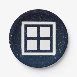Foursquare Frames Minimal 7 Inch Paper Plate
