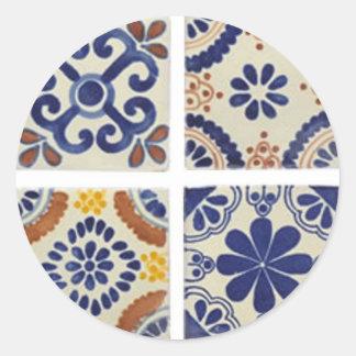 foursquare round sticker