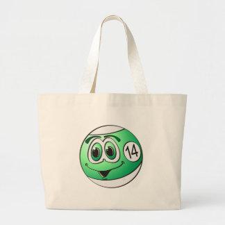 Fourteen Pool Ball Cartoon Jumbo Tote Bag