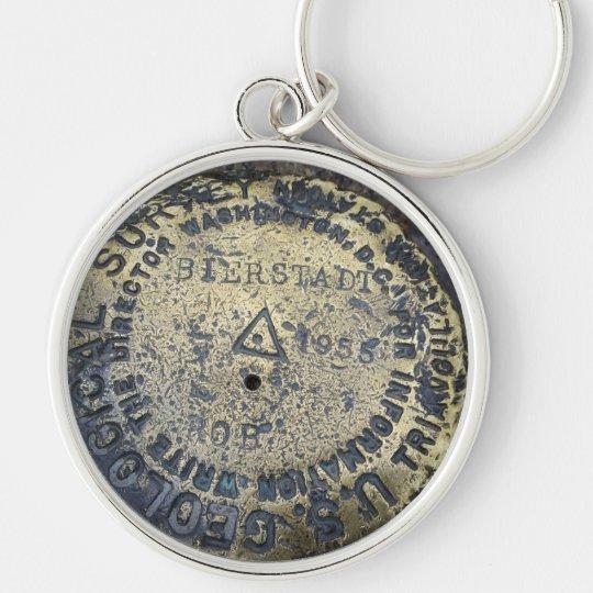 Fourteener Mount Bierstadt USGS Silver-Colored Round Key Ring