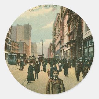 Fourteenth St, New York City Classic Round Sticker