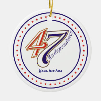 Fourth 4th of July text design ornament