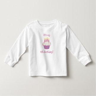 Fourth Birthday Cupcake Toddler T-Shirt