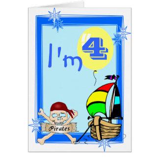 Fourth  Birthday Greeting Card