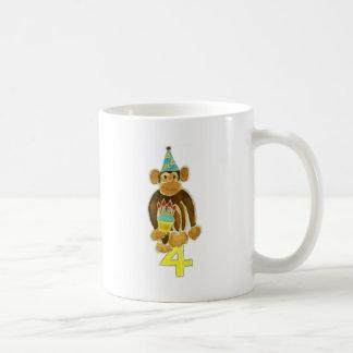 Fourth Birthday Monkey Coffee Mug