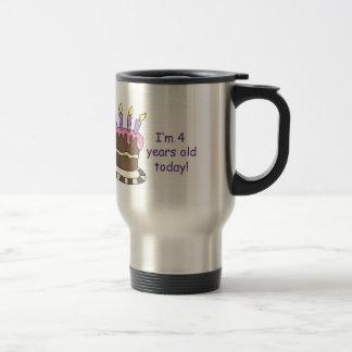 FOURTH BIRTHDAY COFFEE MUGS