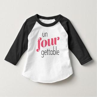 Fourth Birthday Toddler Shirt