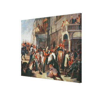 Fourth Dragoon Guards leaving Canvas Print