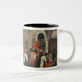 Fourth Dragoon Guards leaving Two-Tone Coffee Mug