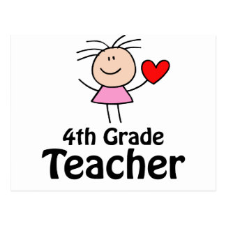 Fourth Grade Teacher Stick Figure Postcards