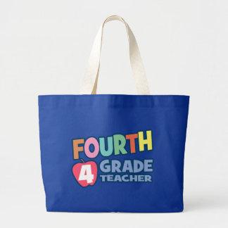 Fourth Grade Teacher Tote Bags