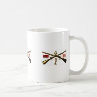 Fourth Infantry Regiment Cross Rifles Basic White Mug