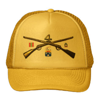 Fourth Infantry Regiment Cross Rifles Cap