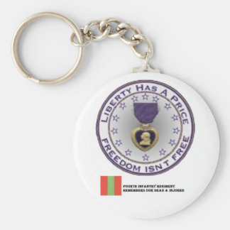 Fourth Infantry Regiment Remembers Basic Round Button Key Ring