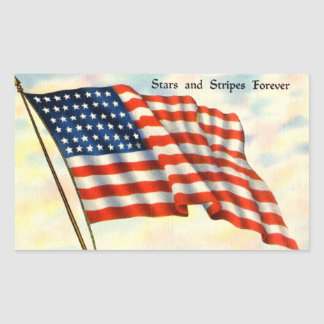 Fourth of July American Flag Stickers