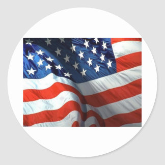 fourth of july and memorial day round sticker