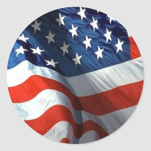 fourth of july and memorial day round stickers