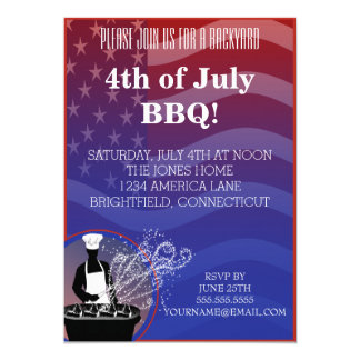 Fourth of July Barbecue Invitation