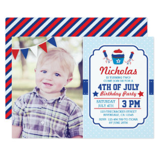 Fourth Of July Birthday Party Invitation