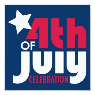 Fourth of July Celebration Invitation