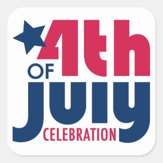 Fourth of July Celebration Sticker