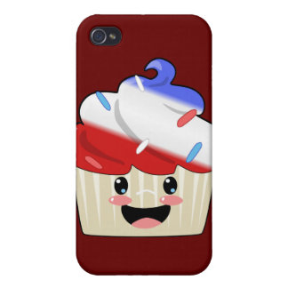 Fourth of July Cupcake iPhone 4/4S Cases