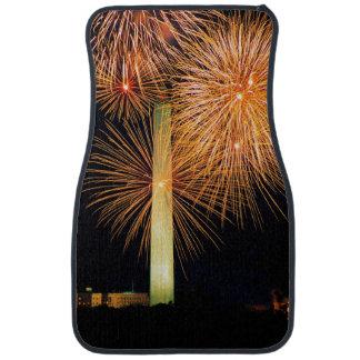 Fourth of July, Firework Display, Skyline Floor Mat
