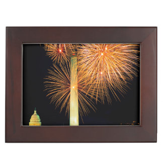 Fourth of July, Firework Display, Skyline Keepsake Box
