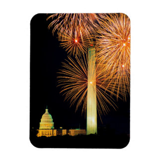 Fourth of July, Firework Display, Skyline Magnet