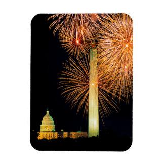 Fourth of July, Firework Display, Skyline Magnet