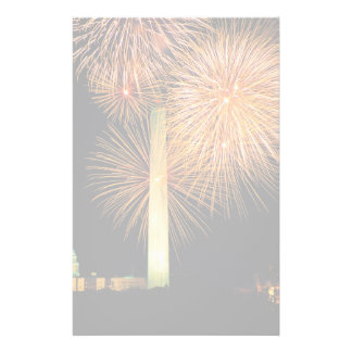 Fourth of July, Firework Display, Skyline Stationery