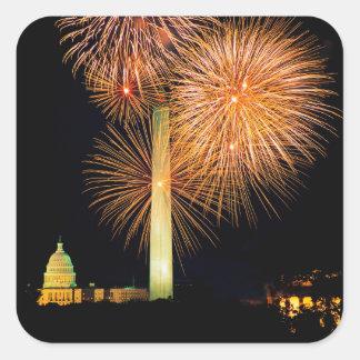 Fourth of July, Firework Display, Skyline Sticker