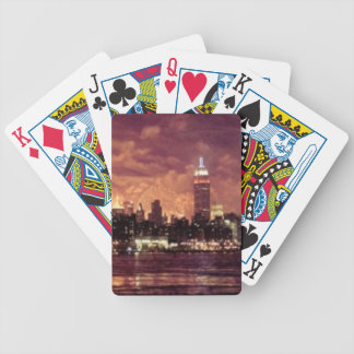 Fourth of July Fireworks behind Manhattan Bicycle Playing Cards